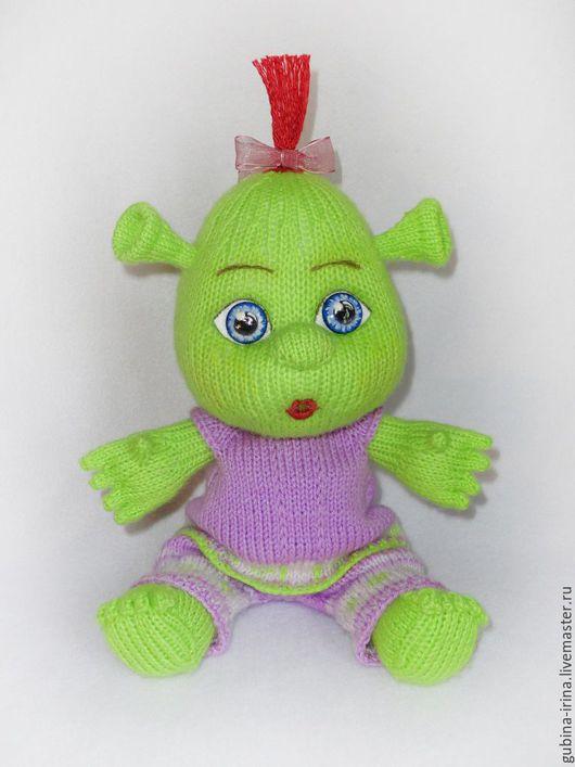 Человечки ручной работы. Ярмарка Мастеров - ручная работа. Купить Кукла Фелиция (дочь Шрека) связана спицами. Handmade. Зеленый