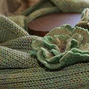 Аксессуары handmade. Livemaster - original item Knitted Snood with brooches
