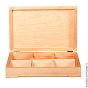 Материалы для творчества handmade. Livemaster - original item 30206 YACH6 casket blank for decoupage with compartments for painting. Handmade.