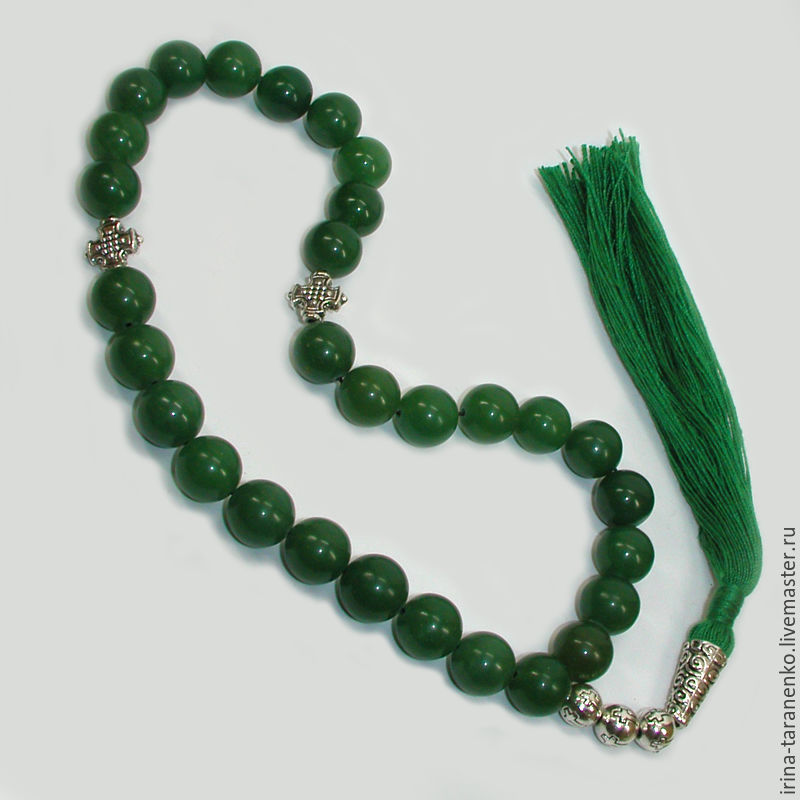 Orthodox Christian prayer beads of jade `Long life`