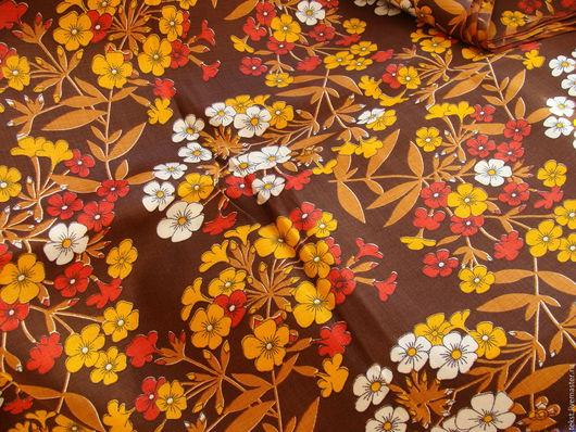 Шитье ручной работы. Ярмарка Мастеров - ручная работа. Купить 315 х 79 см. Ткань штапель, винтаж.. Handmade.