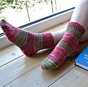 """Аксессуары ручной работы. Ярмарка Мастеров - ручная работа Вязаные носки """"Гавайи"""" -носочки из немецкой пряжи. Handmade."""