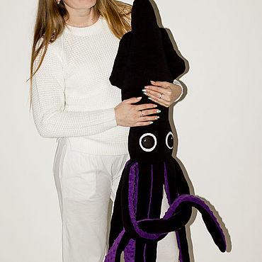 """Куклы и игрушки ручной работы. Ярмарка Мастеров - ручная работа Мягкая игрушка кальмар """"Джонни"""". Handmade."""