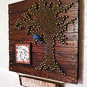 """Картины и панно ручной работы. Ярмарка Мастеров - ручная работа Панно """" Синяя птица счастья"""". Handmade."""