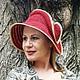 """Шляпы ручной работы. Ярмарка Мастеров - ручная работа. Купить Шляпа """"Елизавета"""" из коллекции """"Горожанка"""". Handmade. Бордовый, шляпа летняя"""