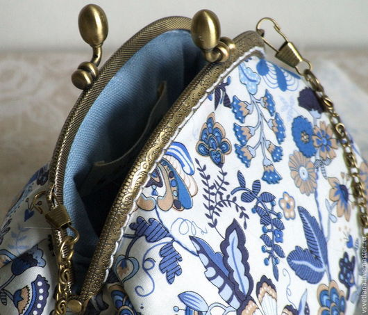 Женские сумки ручной работы. Ярмарка Мастеров - ручная работа. Купить Летняя сумочка для прогулок. Handmade. Тёмно-синий, лето