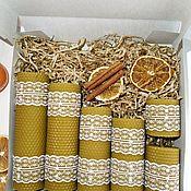 Свечи ручной работы. Ярмарка Мастеров - ручная работа Подарочные наборы свечей. Handmade.
