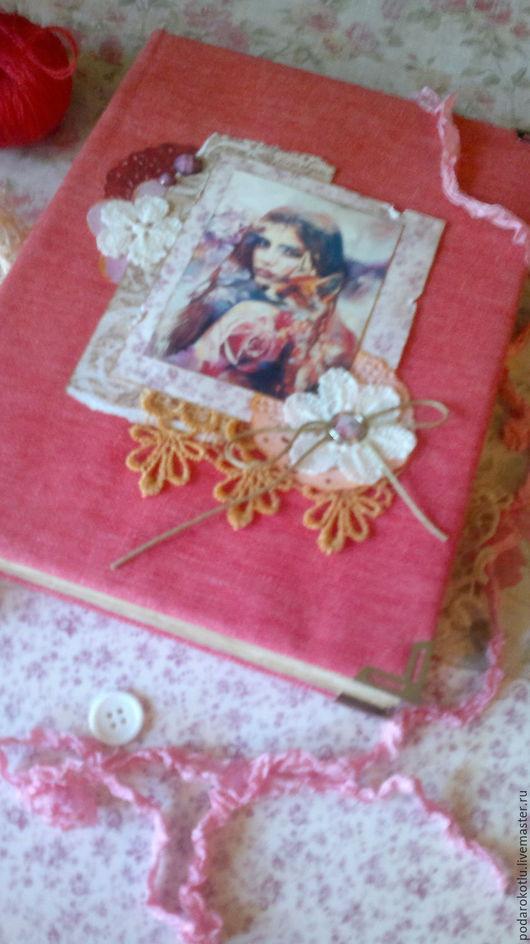 Блокноты ручной работы. Ярмарка Мастеров - ручная работа. Купить Розовая лиса. Handmade. Блокнот, подарок, лиса, лисица, хлопок