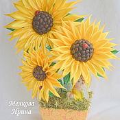 Цветы и флористика handmade. Livemaster - original item Sunflowers. Handmade.