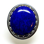 Украшения handmade. Livemaster - original item Ring with lapis lazuli