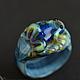 Многоцветное кольцо с лягушкой, авторское стекло лэмпворк. Милый подарок для девочки, девушки, подруги, коллекционера. Сувенир, приносящий радость, богатство.