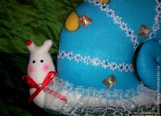 Куклы Тильды ручной работы. Ярмарка Мастеров - ручная работа. Купить Улитка-тильда «Лотта». Handmade. Голубой, интерьерная игрушка