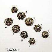 Материалы для творчества handmade. Livemaster - original item Bead caps in stock Art. ShB02. Handmade.