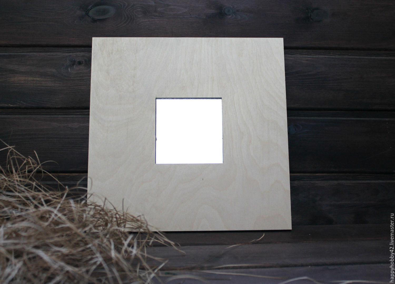 Зеркало в рамке заготовка для декупажа, Заготовки, Кемерово, Фото №1