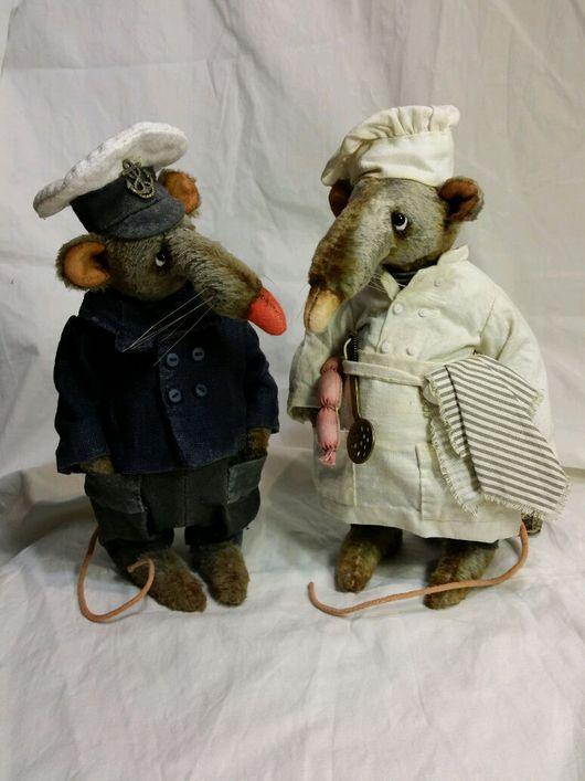 Мишки Тедди ручной работы. Ярмарка Мастеров - ручная работа. Купить Боцман и кок. Handmade. Крыса, стеклянные глазки