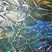 Для дома и интерьера ручной работы. Ярмарка Мастеров - ручная работа Сине-зеленое тонированное настенное зеркало графит в раме ручной работ. Handmade.