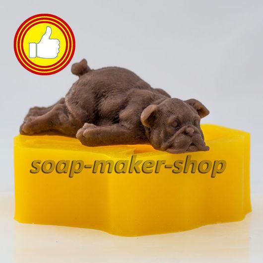 Материалы для косметики ручной работы. Ярмарка Мастеров - ручная работа. Купить Собака 2 3D. Handmade. Силикон, пищевой силикон