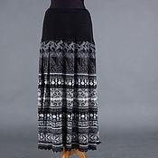 Одежда ручной работы. Ярмарка Мастеров - ручная работа Вязаная юбка со складками. Handmade.