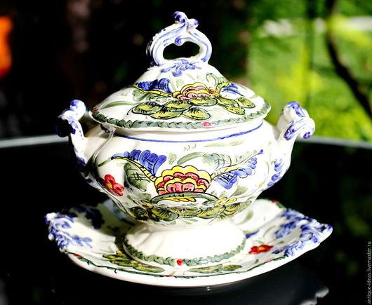 Винтажная посуда. Ярмарка Мастеров - ручная работа. Купить Французская антикварная бульонная чаша.. Handmade. Антиквариат, винтажный стиль, бульонница