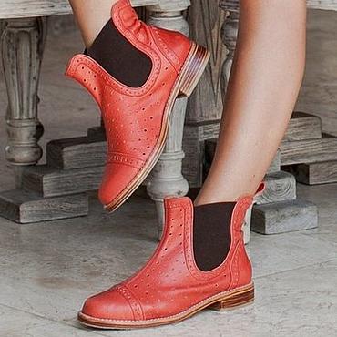 Обувь ручной работы. Ярмарка Мастеров - ручная работа Freebird. Кожаные сапожки-челси. Handmade.