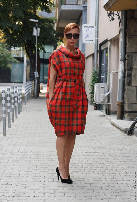 Платья ручной работы. Ярмарка Мастеров - ручная работа. Купить Платье из шерсти. Handmade. Комбинированный, бесплатная доставка