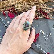 Украшения handmade. Livemaster - original item Ring with a mosaic (amethyst, beryl). Handmade.