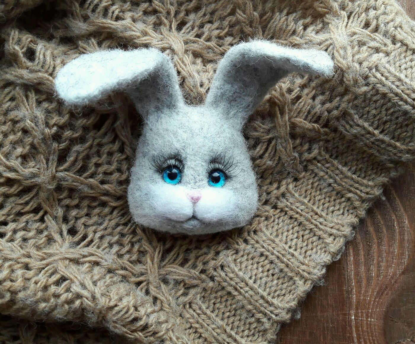 Bunny-brooch face, Brooches, Moscow,  Фото №1