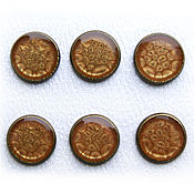 Материалы для творчества handmade. Livemaster - original item Set of 6 handmade buttons brown color. Handmade.
