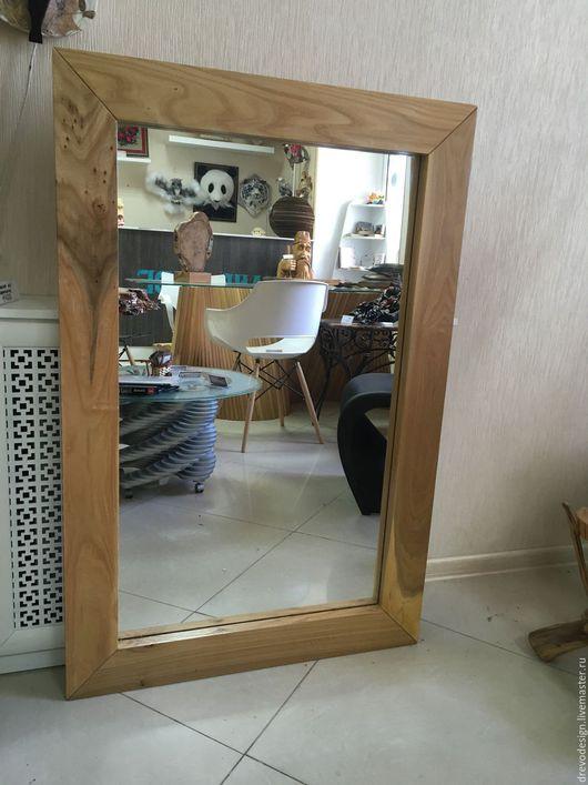 Зеркала ручной работы. Ярмарка Мастеров - ручная работа. Купить Зеркало в раме из карагача - классика!. Handmade. Золотой, зеркало в раме