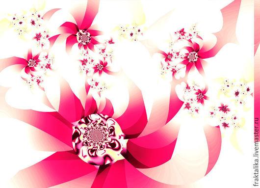 Версия 3 - розовый цветок, крупный план. `Космея полевая`, цена 4999 руб.