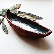"""Посуда ручной работы. Ярмарка Мастеров - ручная работа Пиала """"Плывущий лист"""". Handmade."""