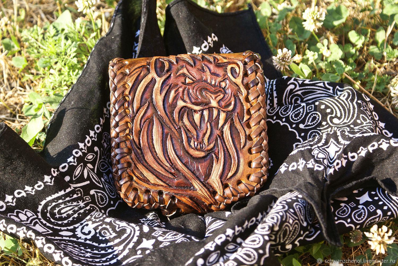 Leather purse 'Hell lion', Wallets, Krasnodar,  Фото №1