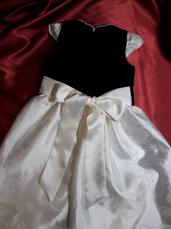 Детское праздничное платье! Бархат и атлас!