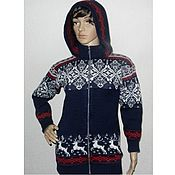 Одежда handmade. Livemaster - original item Knitted jacket with zipper, hooded. Handmade.