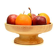 Посуда handmade. Livemaster - original item Wooden fruit bowl on a leg. Fruit bowl.. Handmade.