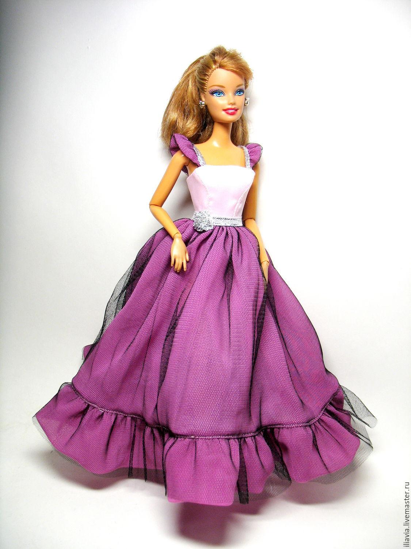 Пять нарядных платьев для Барби, шьём своими руками 37
