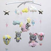 Работы для детей, handmade. Livemaster - original item Mobiles out of felt for the girls,