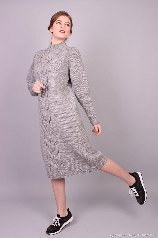 c2e36ba27e9 ручной работы. Ярмарка Мастеров - ручная работа. Купить Вязаное шерстяное  платье.
