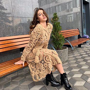 Одежда ручной работы. Ярмарка Мастеров - ручная работа Платье «Карамель». Handmade.