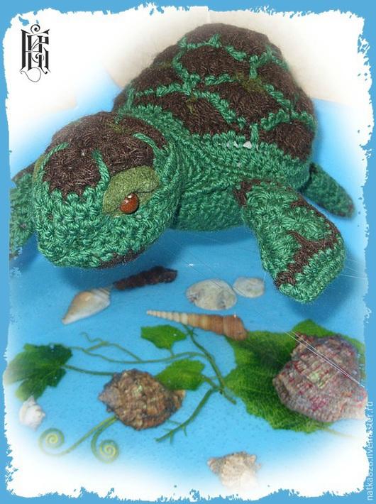 Куклы и игрушки ручной работы. Ярмарка Мастеров - ручная работа. Купить Морская черепаха вязаная. Handmade. Болотный, игрушка в подарок