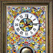 Для дома и интерьера handmade. Livemaster - original item Clocks, decorative,ceramic, with pendulum. Handmade.