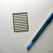 Материалы для творчества ручной работы. Ярмарка Мастеров - ручная работа Нож для вырубки Блокнотный листок. Handmade.