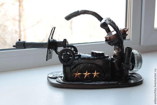 Приколы ручной работы. Ярмарка Мастеров - ручная работа. Купить Мототачанка письменный прибор. Handmade. Черный, письменный прибор, звезда