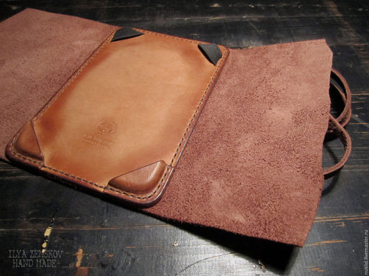 Обложки ручной работы. Ярмарка Мастеров - ручная работа. Купить Обложка для PocketBook. Handmade. Коричневый, ручная работа, кожа