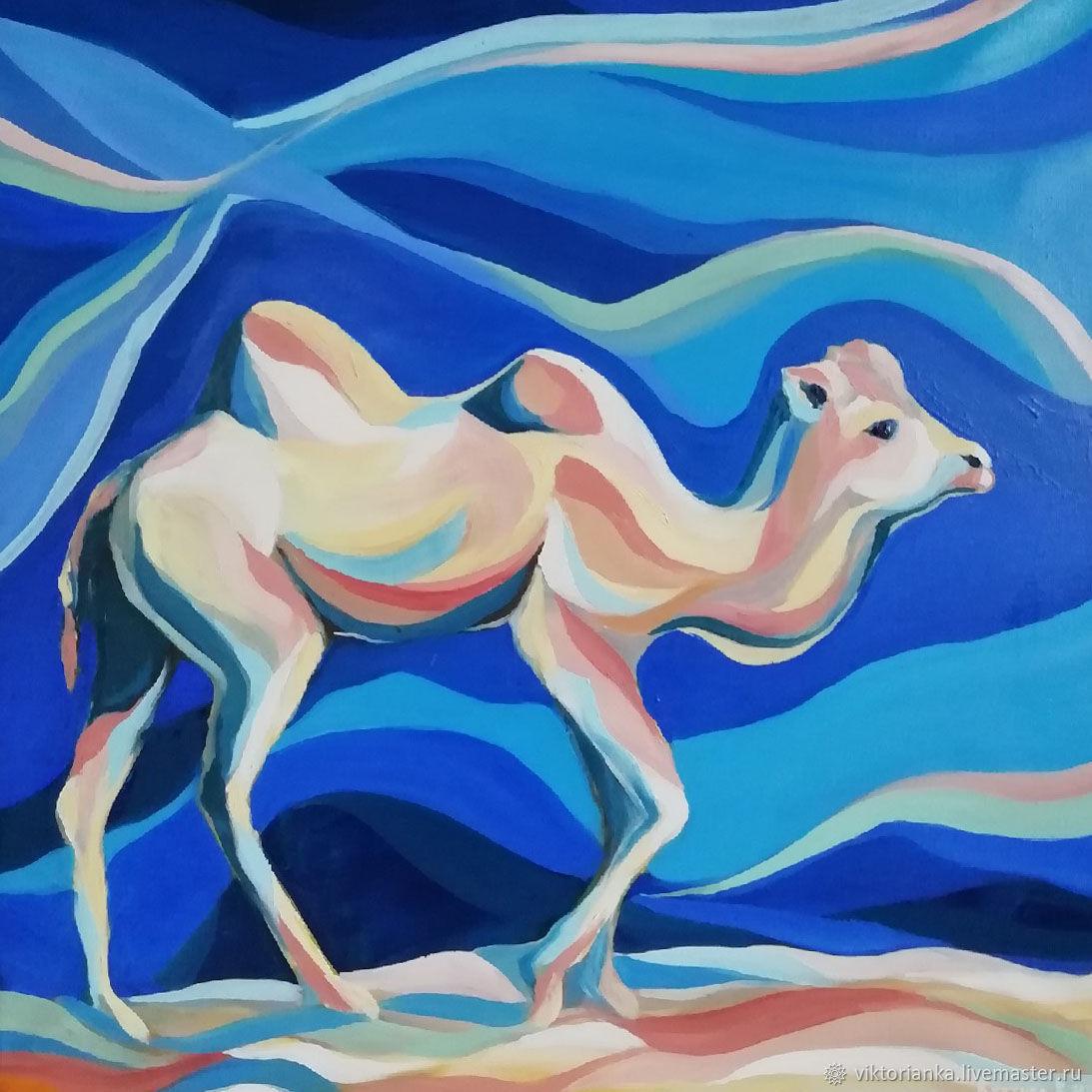 Верблюд картина маслом восточная сказка, Картины, Евпатория,  Фото №1