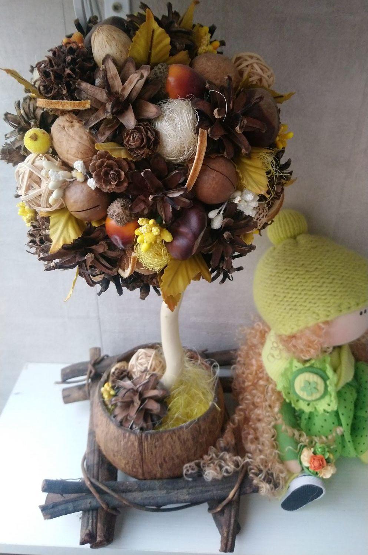 Топиарий, дерево счастья Предчувствие осени, Топиарии, Москва,  Фото №1