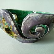 """Vases handmade. Livemaster - original item Bowl for knitting """"Purple"""". Handmade."""