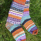 Аксессуары handmade. Livemaster - original item Socks made of wool jacquard pattern. Handmade.