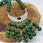 handmade. Livemaster - original item Malachite Necklace. Handmade.