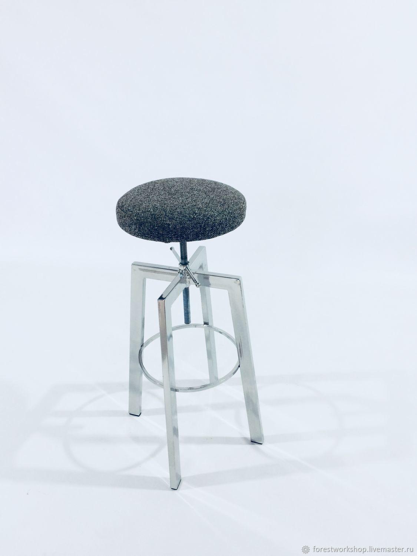 Барный стул мягкий с регулировкой высоты JOE SOFT  мастер Иван